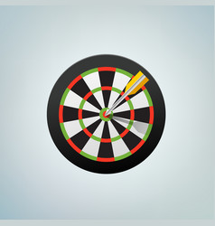 the arrow in bulls eye color vector image