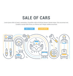 Website banner and landing page sale cars vector