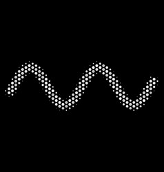 white dot sinusoid wave icon vector image