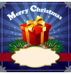 Xmas gift vector image