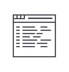 programmingcoding line icon sign vector image