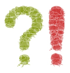 Question and exclamation mark vector image