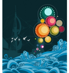sea abstract vector image