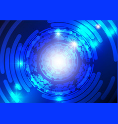 blue technology abstract background vector image vector image