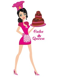 Cake Queen vector image