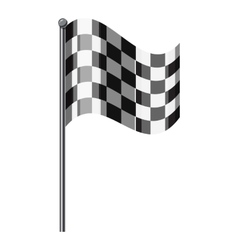 Chequered flag icon isometric 3d style vector