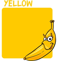 Color Yellow and Banana Cartoon vector image vector image