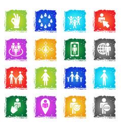 community icon set vector image vector image