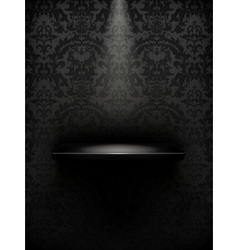Empty shelf black luxury vector image vector image