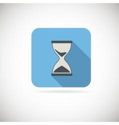 Flat hourglass icon vector image vector image