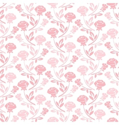 Floral seamless pattern with rose in pastel tones vector image