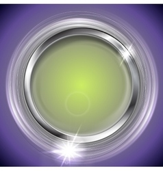 Bright shiny background with metal circle frame vector