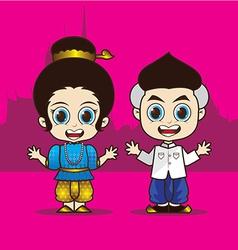 Cartoon Asean Thailand vector image vector image