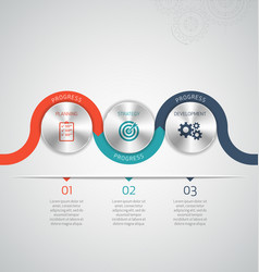 circle modern infographic template vector image vector image
