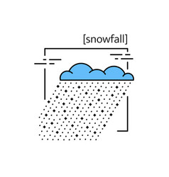 Line icons with symbol weather isolated snow vector