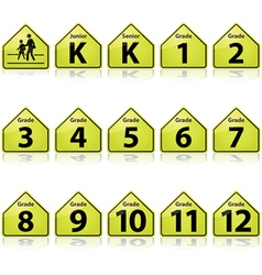 School signs vector image vector image