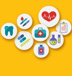 set medical icons for web design - vector image