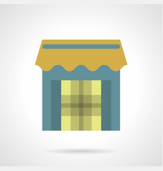Store with awning flat color icon vector