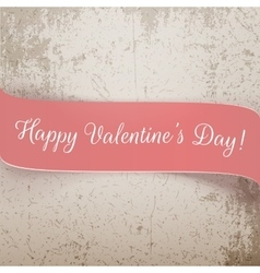 Valentines Day pink Banner with Text vector image vector image