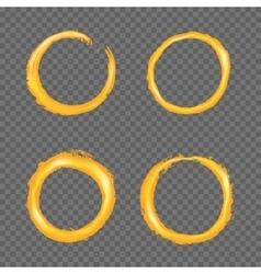 Grunge golden circle border set vector image vector image