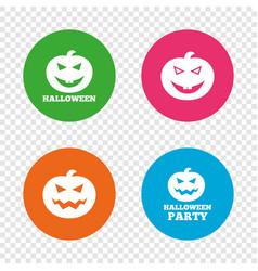 halloween party icons pumpkin symbol vector image