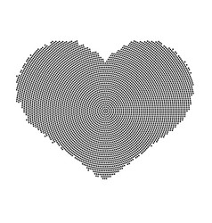 heart symbol with a dot pattern icon vector image