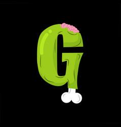 letter g zombie font monster alphabet bones and vector image vector image