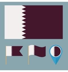Qatarcountry flag vector image vector image