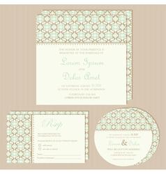 vintage wedding invitations set vector image vector image