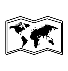 World map paper geography icon vector