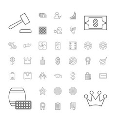 37 success icons vector