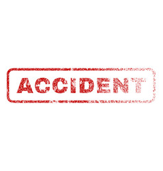 accident rubber stamp vector image vector image