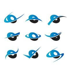 Alphabet O Logo Icons vector image