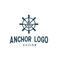 anchor sailor logo design inspiration vintage vector image