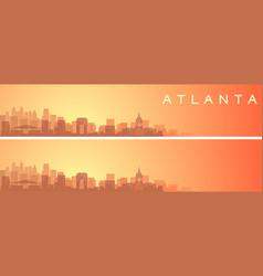 atlanta beautiful skyline scenery banner vector image