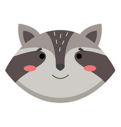 avatar with a cute funny raccoon isolated vector image