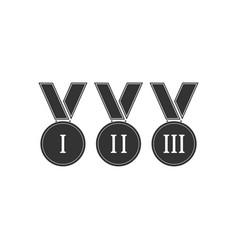 award medal icon flat vector image