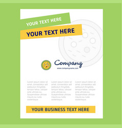 Bacteria on plate title page design for company vector