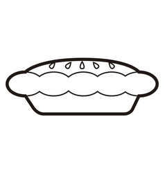 bakery pie icon vector image