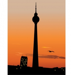 berlin TV tower vector image