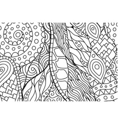 black and white rectangle coloring book page vector image