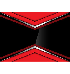 Black glossy in red silver arrow design vector