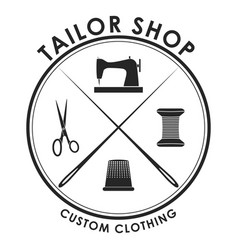 Black tailor badge vector