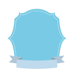 Blue label decoration ribbon vector