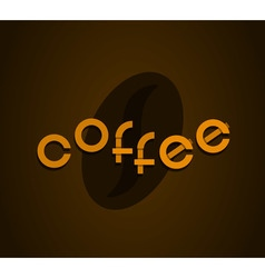 Brown background with coffee creative original vector