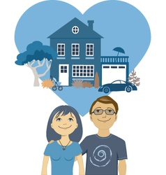 Building a life together vector image