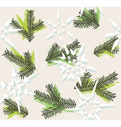 Christmas decorative seamless pattern vector image