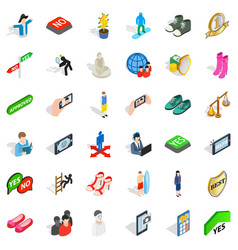 clown icons set isometric style vector image