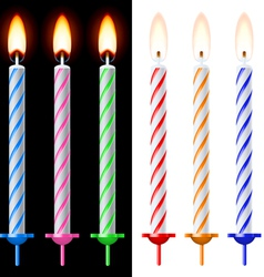 Colorful holiday candles vector image