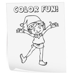 coloring worksheet vector image